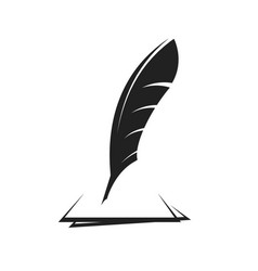 birds feather for writing vector image
