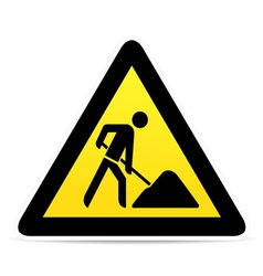 building construction site warning sign vector image vector image
