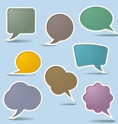 collection speech bubbles vector image