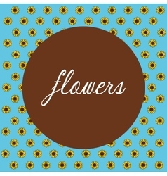 Flowers floral card vector image vector image