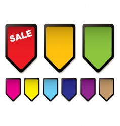 price tag icons vector image