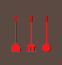 Set Of Utensils Flat Design vector image