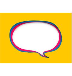 speech bubble in paper cut style vector image