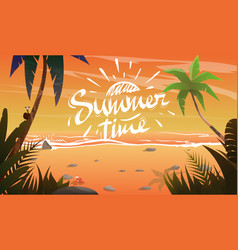 summertime on ocean coast vector image