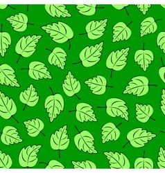 Green Leafs Seamless vector image vector image