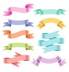 ribbons set color vector image vector image
