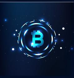 bitcoins digital currency logo sigh image vector image