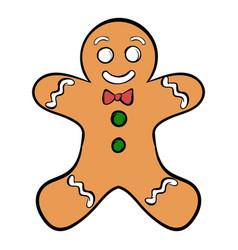 cookie man icon cartoon vector image vector image