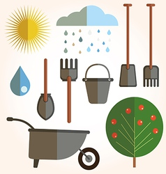 Garden set icons vector image vector image