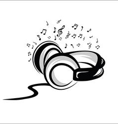 Headphone sketch vector image vector image