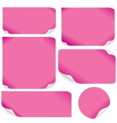 Isolated Pink Paper Sheets Pack vector image vector image