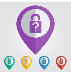 lock question flat vector image vector image
