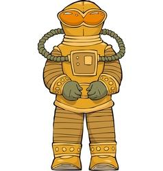 alien astronaut vector image