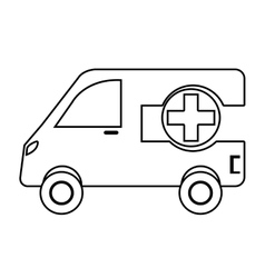 Ambulance emergency vehicle with cross symbol vector image