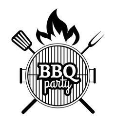 Barbecue party label vector