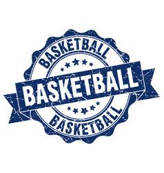 Basketball stamp sign seal vector