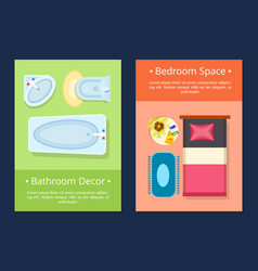 Bathroom decor bedroom space vector