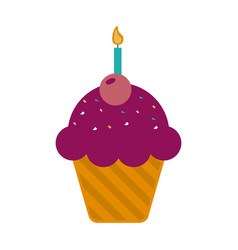 birthday pastry icon image vector image