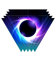 Black hole with starry vortex vector image