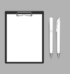 Blank empty clipboard mockup flat and solid color vector
