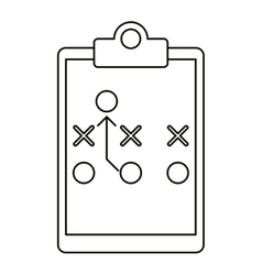 Board tactical diagram american football outline vector