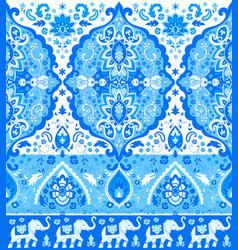 bohemian indian mandala print vintage henna vector image