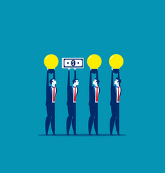 Business people and different presentation vector
