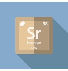 Chemical element Strontium Flat vector