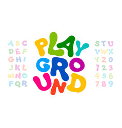 childrens style colorful font playful alphabet vector image