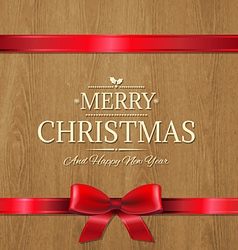 Christmas Wood Texture vector image
