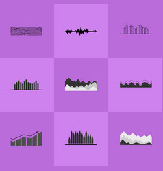 collection of different charts vector image