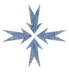 compression arrows fabric textured icon vector image