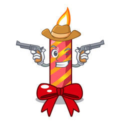 Cowboy character christmas decoration with vector