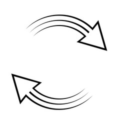 Currency exchange icon clockwise rotation vector