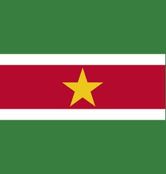 Flag of suriname official colors and proportions vector