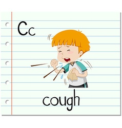 Flashcard letter C is for cough vector
