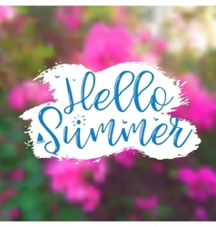Floral Background with Lettering Hello Summer vector image