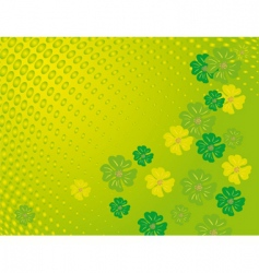 flowers on a green background vector image