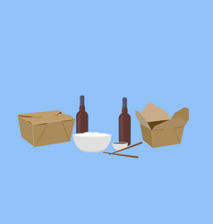 food take away vector image