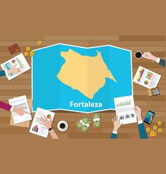 Fortaleza brazil ceara city region economy growth vector