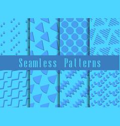 geometric modern seamless pattern set triangles vector image
