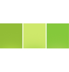 graphical green yellow gradient in halftone style vector image