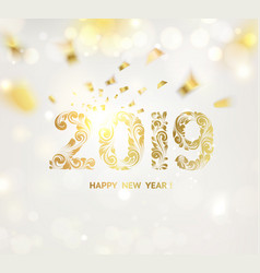 happy new year card over gray background vector image