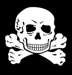 human skull and crossbones jolly roger pirate vector image