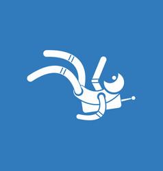 Icon falling astronaut vector