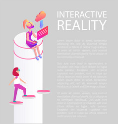 interactive reality vision vector image