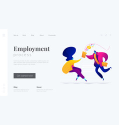 Job interview landing page template vector