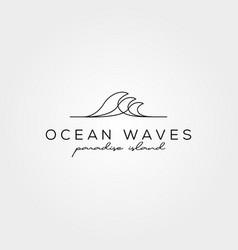 line art wave icon logo symbol minimal design vector image