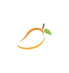 Mango in flat style mango logo mango icon vector