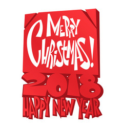merry christmas lettering christmas holidays vector image